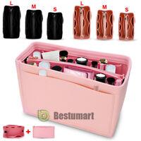 Multi-Pocket Insert Bag Felt Fabric Purse Handbag Bag Liner Tote Organizer S/M/L