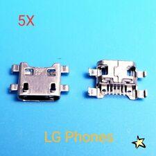 Lot of 5 Micro USB Charging Port Sync For LG K10 K410 K420 K430 F500 Phone USA