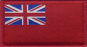 Red Ensign Red Duster British Merchant Navy Flag Woven Badge Patch 8cm x 4.5cm