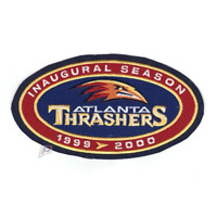 1999-2000 Atlanta Thrashers Inaugural Season Jersey Patch Navy Blue