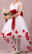 NEW Baby Girls Kids Princess Flower Petals Party Fantasy Formal Gown Dress SALE