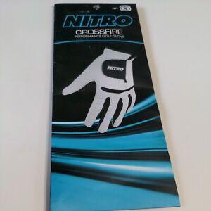 Nitro Crossfire Performance Golf Glove Left Hand Men's Medium