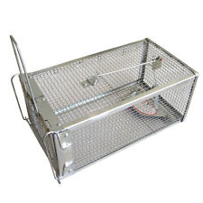 Animal Live Catch Trap 1 Door Iron Mesh Cage Prey Hunt Rabbit Rodent Mouse NEW