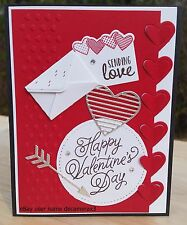 VALENTINE'S DAY CARD KIT, SET OF 4,  HANDMADE STAMPIN' UP SEALED WITH LOVE
