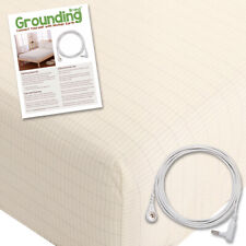 Grounding Brand Full Size Earthing Sheet with Connection Cable, Tan