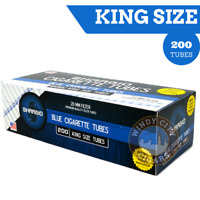 Shargio Light Blue Filtered Cigarette Tubes King Size 1 Box 200 Ct.