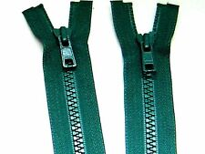 "YKK Zipper 26"" Green #6 Molded Plastic Teeth Separating Bottom Metal Puller #Z59"