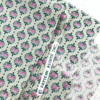 "Vintage Apple Print Fabric Cotton Calico Novelty Pink Gray Green 1 yard x 44"""