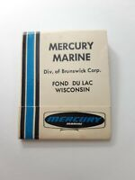 Vintage Mercury Outboards Marine Fond Du Lac Wisconsin Matchbook Matches -4b