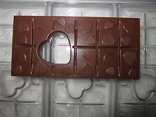 NEUE SCHOKOLADENFORM 3 X HERZ TAFEL 100 gr. NEW chocolate mold ANTON REICHE # 84