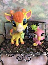 Littlest Pet Shop~#3812~Giraffe~Pierre De Long~#3813~Bird~Siesta Perez~Deco Bits