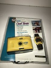 Vintage Cool Times 35MM Compact Camera And Watch 90s Radness! YELLOW!!!!!!!!