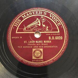 78rpm Tex Beneke - St. Louis Blues March / Cherokee Canyon HMV BD6020 shellac