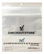 """100 Crystal Clear Plastic OPP Sealable Flap 12"""" Vinyl 33 R 4Mil (Outer Sleeves)"""