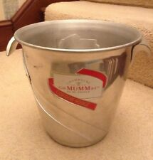 VINTAGE MUMM CORDON ROUGE CHAMPAGNE ICE BUCKET FRANCE COOLER WINE BAR WEDDINGS