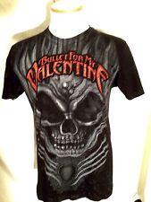 Bullet For My Valentine Band T Shirt Black Sort Sleeve Small Skull Heavy Metal