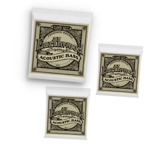 3 PACK Ernie Ball Acoustic Bass Strings Earthwood .045 .095 Phosphor Bronze Wrap