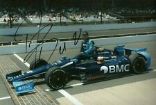 Rubens Barrichello F1 driver 2012 Indy 500 signed photo Indianapolis KV Racing