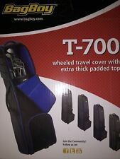 Bag Boy T-700 Black and Grey Golf Club Bag WheeledTravel Cover Padded Top