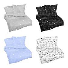 Seersucker Bettwäsche Bettgarnitur Kissenbezug 135x200 cm Schwarz Weiß 2 tlg