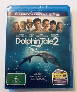 Dolphin Tale 2 Blu Ray NEW & SEALED** Rated G Movie 🍿 Region B Judd M Freeman