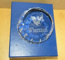 """Glencairn Crystal Cut Glass Paperweight The Wheezzurs Group; Boxed & New 4"""" x 2"""""""