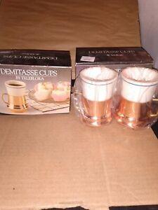 Teleflora Demitasse Cups Vintage