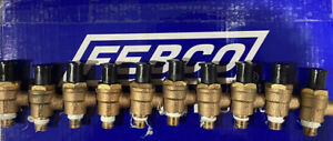 """10 Pack OEM Febco 1/8"""" Male Thread X 1/4"""" Male Air Test Cock Backflow W Dust Cap"""