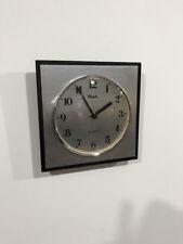Horloge pendule formica  INOX FLASH    Années 70's    jan15