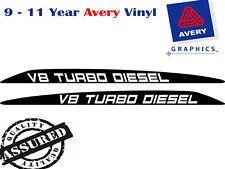 V8 TURBO DIESEL Decal Sticker for Toyota Landcruiser 76 70 78 79 Bonnet scoop