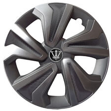 15'' Carbon/ Metallic Grey Hamilton Wheel Covers x4 Designed For Vauxhall Astra