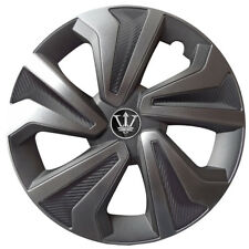 15'' Carbon/ Metallic Grey Hamilton Wheel Covers x4 Designed For Hyundai i20