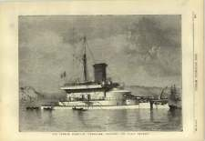 1878 The French Ironclad Tonnerre Designed For Coastal Defence