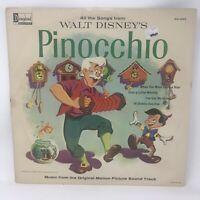 Walt Disney's Pinocchio LP Vinyl Record Original 1959 Disneyland DQ-1202