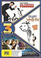 mr popper's penguins,diary of a wimpy kid,narnia and dawn treader dvd