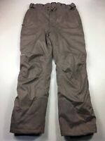 MENS QUECHUA EU LARGE US MEDIUM BROWN PADDED SNOW SKI WINTER SPORTS TROUSERS