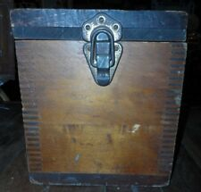 """PRIMITIVE WOOD BOX DOVETAIL MCELROY MFS  15"""" X 8.25"""" AND 9.5"""" TALL"""