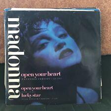 """MADONNA OPEN YOUR HEART / LUCKY STAR CLASSIC EIGHTIES POP 12"""" VINYL"""