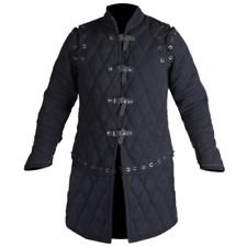 Medieval & Renaissance Viking Black Color Gambeson For Armor Reenactment