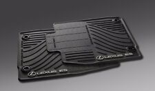 Lexus Genuine ES350 ES300H All Season Rubber Floor Mat Set Black 2013-2015 NEW