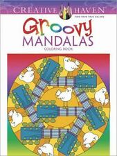 Creative Haven Groovy Mandalas Coloring Book Adult Coloring