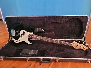 Fender precision bass USA mid 1990's artist model black with white pick guard