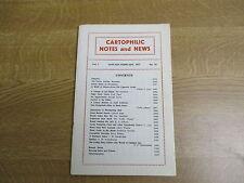 January/February 1977, CARTOPHILIC NOTES, Edwin Hicks, Tom Kempshall, Fred Baker