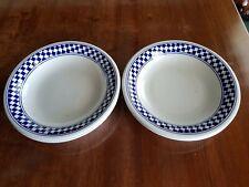 Bowls, check edge x 4