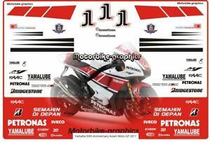 Yamaha 50th Anniversary Assen Moto GP 2011 decal set