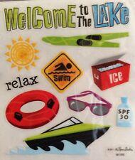 Lake Boat Ski Travel Vacation Scrapbook Stickers