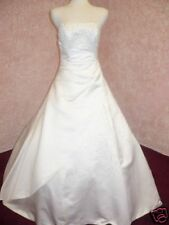 """Forever Romance"" Strapless White Bridal Wedding Gown"