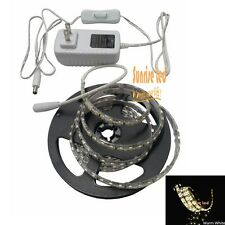 3528 Led Strip 8.2ft 300 leds warm white water proof+ 2A adapter US plug+ switch