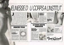 PUBLICITE ADVERTISING 054  1986  RENE GUINOT insitut de beauté ( 2 pages)