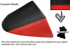 BRIGHT RED & BLACK CUSTOM FITS HARLEY DAVIDSON V-ROD VRSC 01-09 REAR SEAT COVER